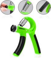 #DoYourFitness® - Verstelbare / Instelbare handtrainer »Siro« - Pols / onderarm training - knijphalter / handknijper - ter versterkingen van handspieren - groen