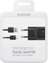 Samsung Galaxy S8 & S8 Plus S9 & S9 plus Adaptive Fast Charging Snellader Met Type-C kabel - zwart