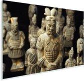 Eeuwenoude strijders in de Chinese stad Xi'an Plexiglas 120x80 cm - Foto print op Glas (Plexiglas wanddecoratie)