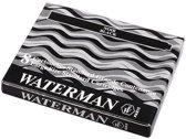 Waterman Inktpatronen Zwart 1x8 lange intkpatronen