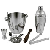BARcrafts cocktailshaker set - cocktail set - 7-delig - Roestvrij staal