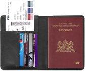 Paspoorthouder / Paspoorthoesje / Passport Wallet - V1 - Zwart