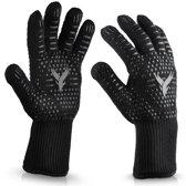 YSP BBQ en ovenhandschoenen - 1 paar - hittebestendige handschoenen - tot 500 °C 932 °F - Siliconen anti-Slip