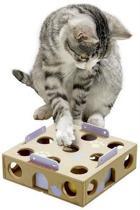 Flamingo Cat activity box met Ratel - Hout - 22,5 x 6,5cm