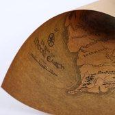 Map Of Middle Earth - Gedrukt Op Echt Kraft Papier