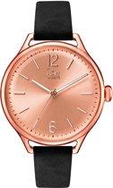 Ice-Watch IW013052 Horloge - Leer - Zwart - 38 mm