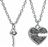 Fako Bijoux® - Vriendschapsketting - Hart & Sleutel Keyholder