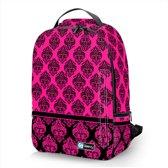 Laptop rugzak 17,3 Deluxe roze patroon chique - Sleevy - schooltas