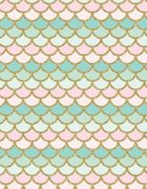 Mermaid Tail Notebook - 4x4 Graph Paper