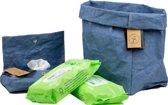 Colibries 1 x mand cherry + 1 x opberghoes babydoekjes birch + 3 x SmartKids eco billendoekjes – Denim - opbergmand - duurzaam - wasbaar papieren - blauw