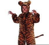 Carnavalskleding dierenpak Tijger plusch tijgerpak kind Maat 164