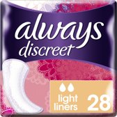 Always Discreet Light voor Urineverlies en Incontinentie - 28 stuks - Inlegkruisjes