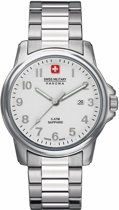 Swiss Military Hanowa 06-5231.04.001 quartz  zilver - edelstaal band 5 ATM (douchen)