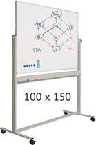 Verrijdbaar whiteboard   100 x 150 cm
