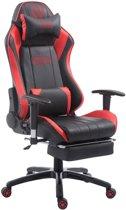 Clp Shift - Bureaustoel - Kunstleer - zwart/rood met voetsteun