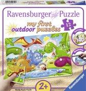 Ravensburger Dino vrienden plastic puzzle - 12 stukjes - kinderpuzzel