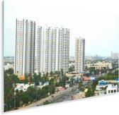 Panorama van Chennai Plexiglas 90x60 cm - Foto print op Glas (Plexiglas wanddecoratie)