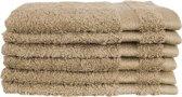 Katoenen Washandjes met Ophang Lus – 6 Pack – 15 x 21 cm – Taupe