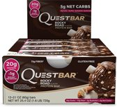 Quest Nutrition Quest Bar - Eiwitreep - 1 doos (12 eiwitrepen) - Rocky Road