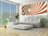 Fotobehang Design, Slaapkamer | Oranje | 250x104cm