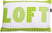 In The Mood Sierkussen Loft Mixed - 30x45 cm - Lime