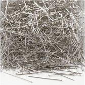 Kopspelden, l: 30 mm, dikte 0,55 mm, zilver, 500gr