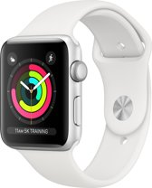 Apple Watch Series 3 - 42mm Zilver Aluminum / Wit Sportbandje (GPS)