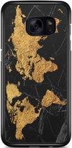 Samsung Galaxy S7 Edge hoesje - Wereldmap