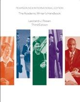 Academic Writer's Handbook: Pearson  International Edition
