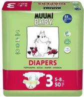 Eco Muumi Baby luiers maat 3 - 5-8 kg - 50 stuks - ecologisch