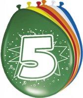 Ballonnen 5 Jaar - 8 stuks
