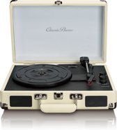 Classic Phono TT-11 - Platenspeler met twee ingebouwde speakers en bluetooth - Wit