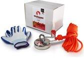 Magneetvissen - Combi Deal - 185KG – Sterke touw 10m - handschoenen en Schroefdraadborgmiddel