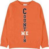 Name it Jongens Sweatshirt - Mandarin Orange - Maat 110