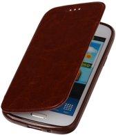 Polar Map Case Bruin Samsung Galaxy S4 TPU Bookcover Hoesje
