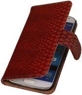 Samsung Galaxy Core II Hoesje Slang Bookstyle Rood