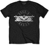 Guns n Roses Heren Tshirt -L- Circle Logo Zwart