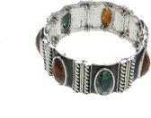 Rekarmband vintage design met ovale stenen