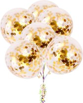 10 confetti ballonnen goud|Ideaal voor feesten en andere gelegenheden