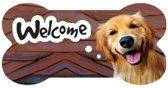 bordje - welcome - Golden Retreiver