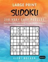 Large Print Sudoku 200 Very Easy Puzzles