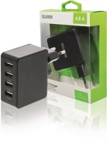 Sweex 4-poorts USB lader - 4,8A / zwart