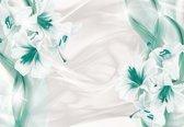 Fotobehang Floral Lilies Abstract Modern   XXXL - 416cm x 254cm   130g/m2 Vlies