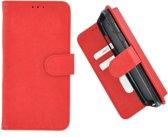 Pearlycase Hoes Wallet Book Case Rood voor Huawei Y6 2019