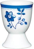 Set van 2 - Eierdopje - Bloemen - Blauw - KitchenCraft