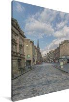 De straten van de Royal Mile bij daglicht Canvas 90x140 cm - Foto print op Canvas schilderij (Wanddecoratie woonkamer / slaapkamer)