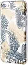 Roar iPhone 7 Case Gel Tpu Color Silicone Gold + Nano Screen Protector hoesje