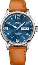 Hugo Boss HB1513331 Pilot Horloge - Leer - Bruin - Ø44 mm