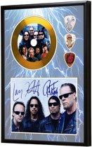 Golddiscdisplay met plectrums Metallica ingelijst