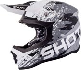 Shot Crosshelm Furious Counter Black/White Matt-L